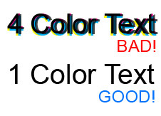 Four colour text