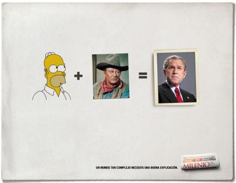 Milenio George Bush Homer Simpson