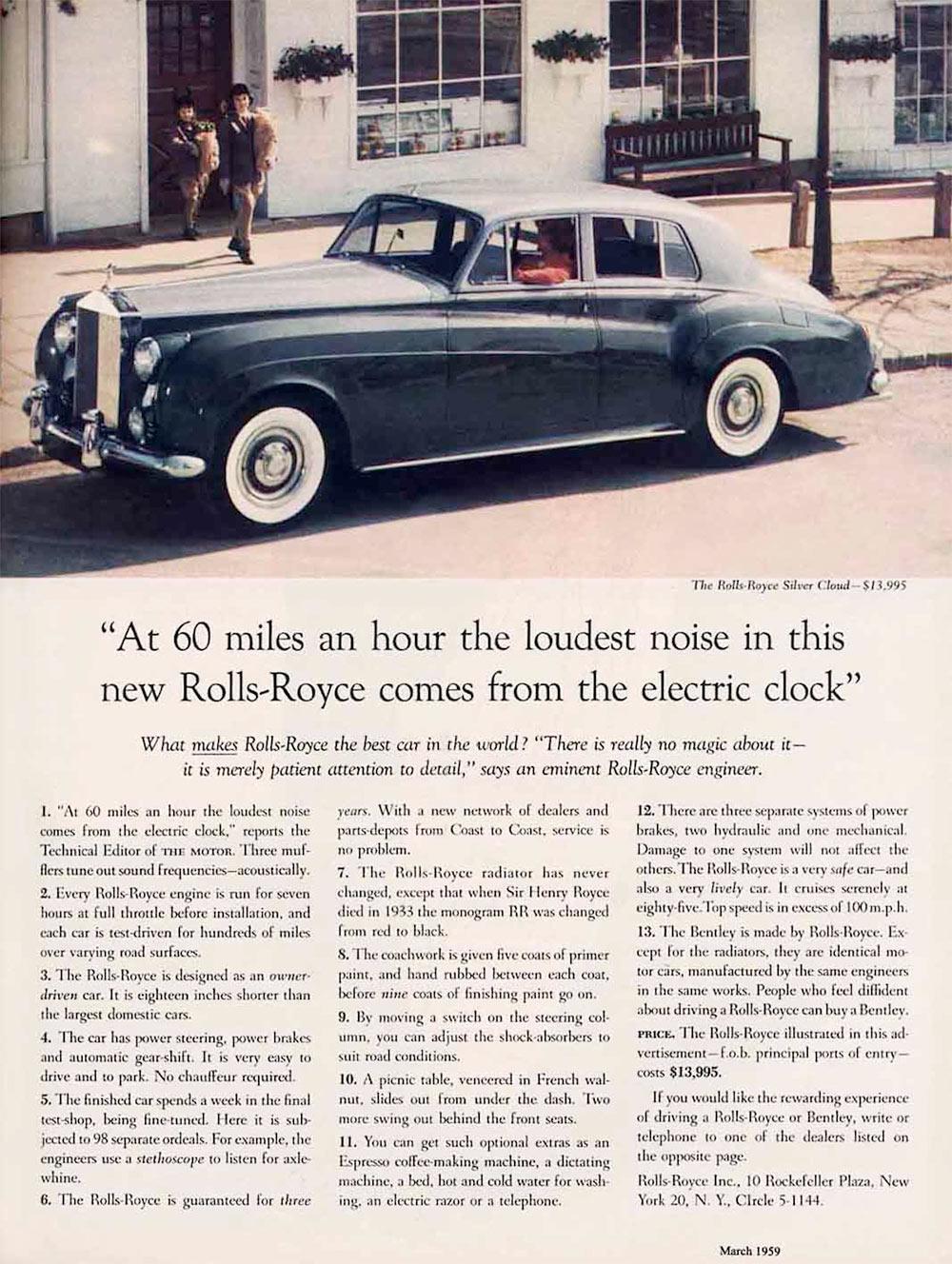 David Ogilvy Rolls Royce ad