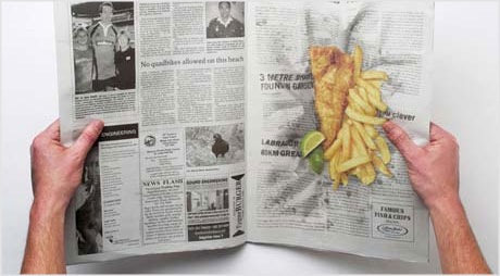 Fish and chips newspaper ad