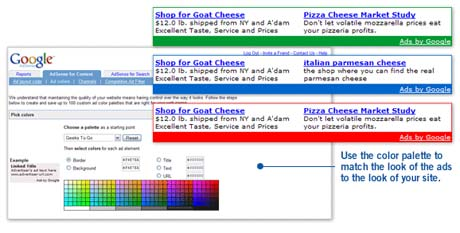 Google AdSense customisation
