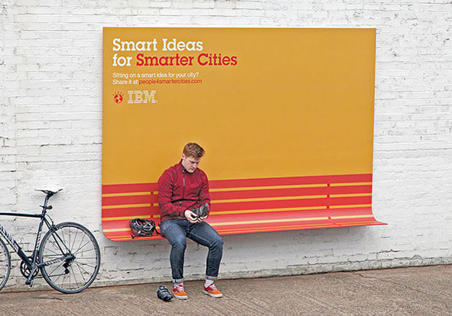 IBM smart ideas billboard