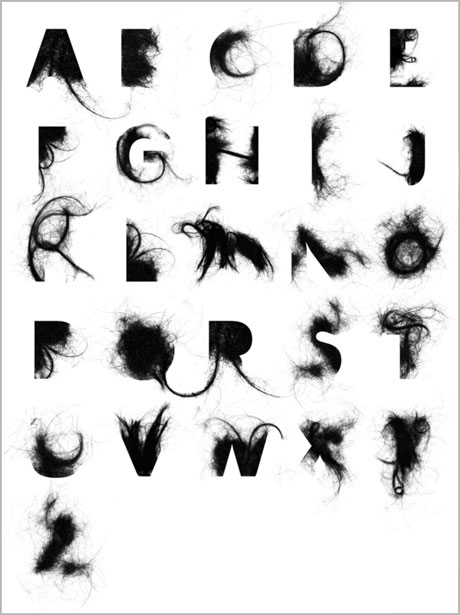 alphabet hair