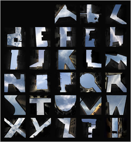 alphabet in the sky