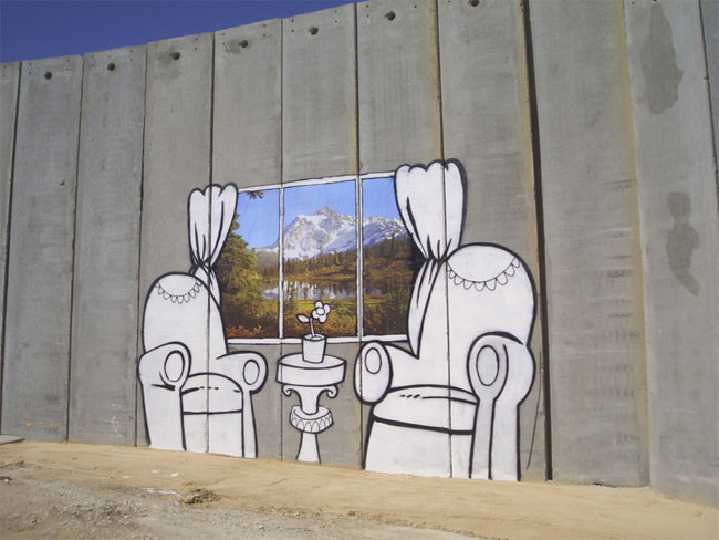 Banksy Palestine Chairs