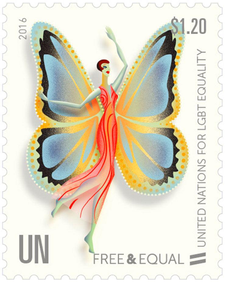 LGBT stamp United Nations