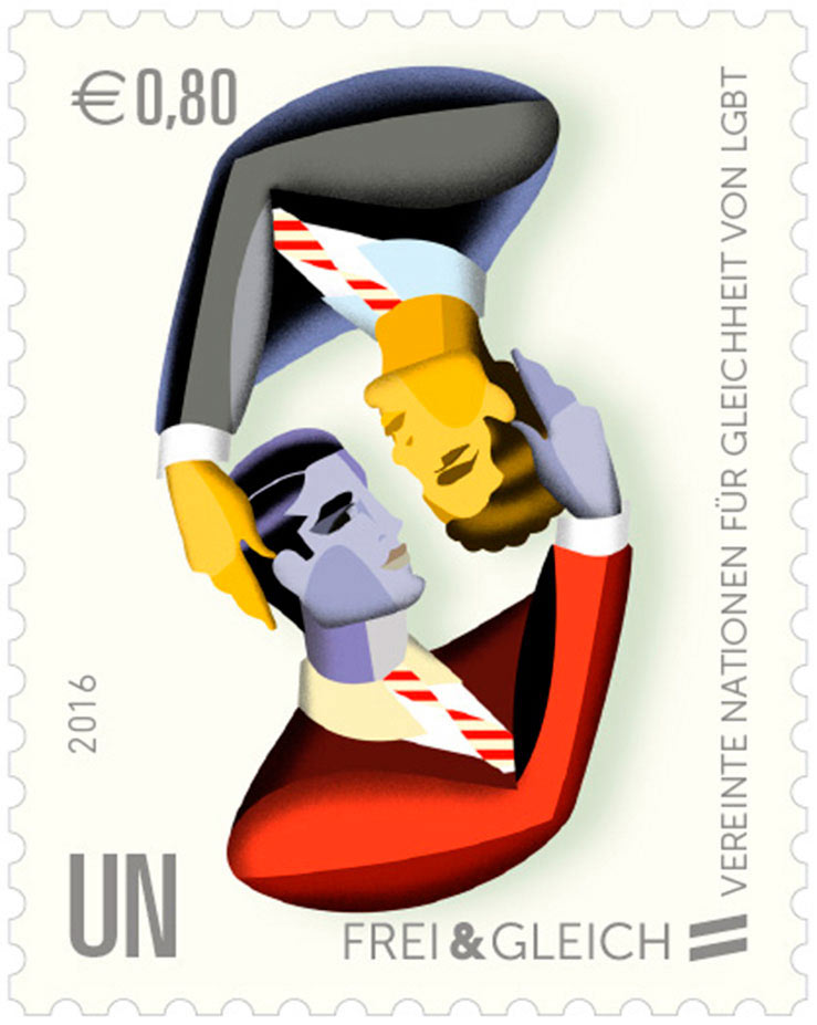 LGBT stamp United Nations