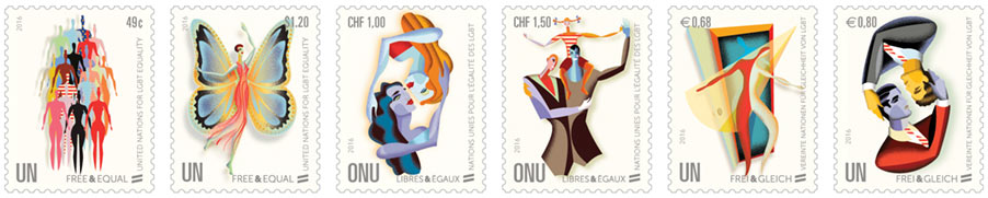 LGBT stamps United Nations