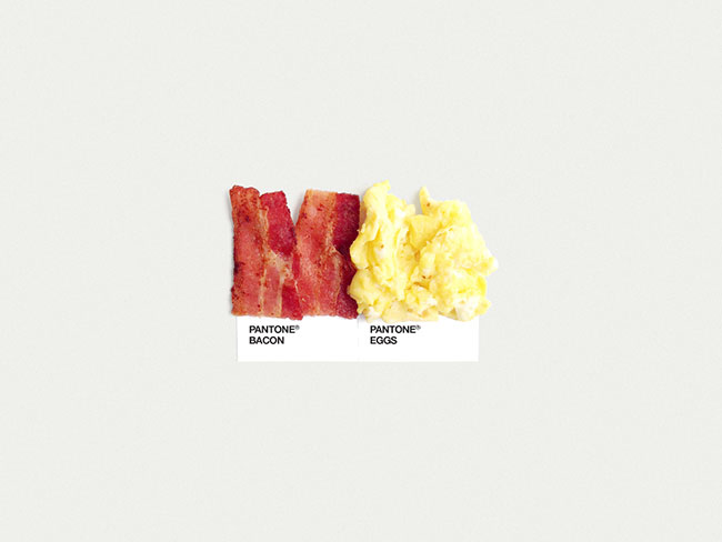 Pantone bacon eggs