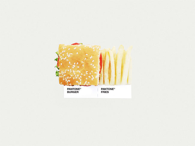 Pantone burger fries