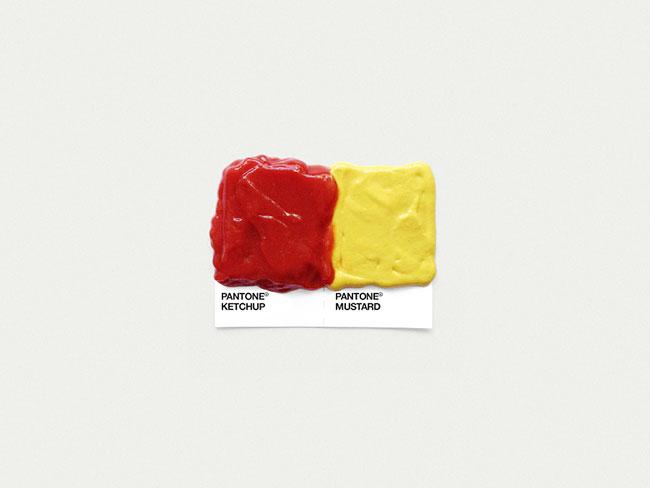 Pantone ketchup mustard