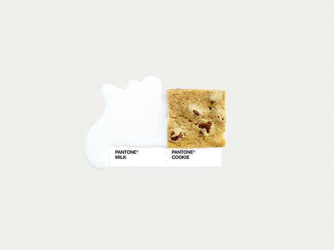 Pantone milk cookie
