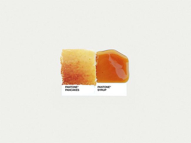 Pantone pancakes syrup