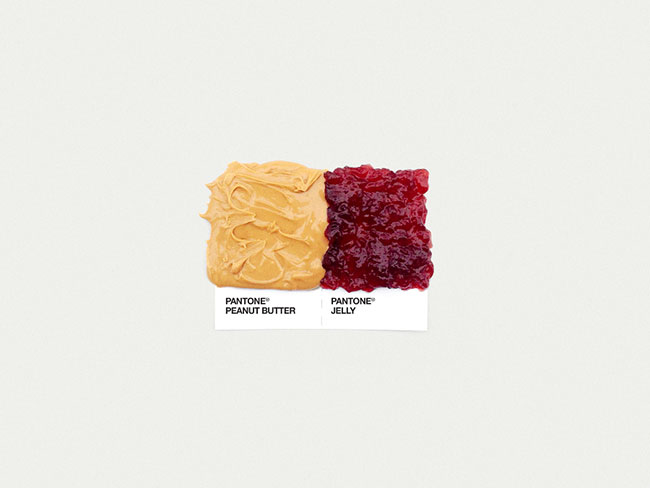 Pantone peanut butter jelly