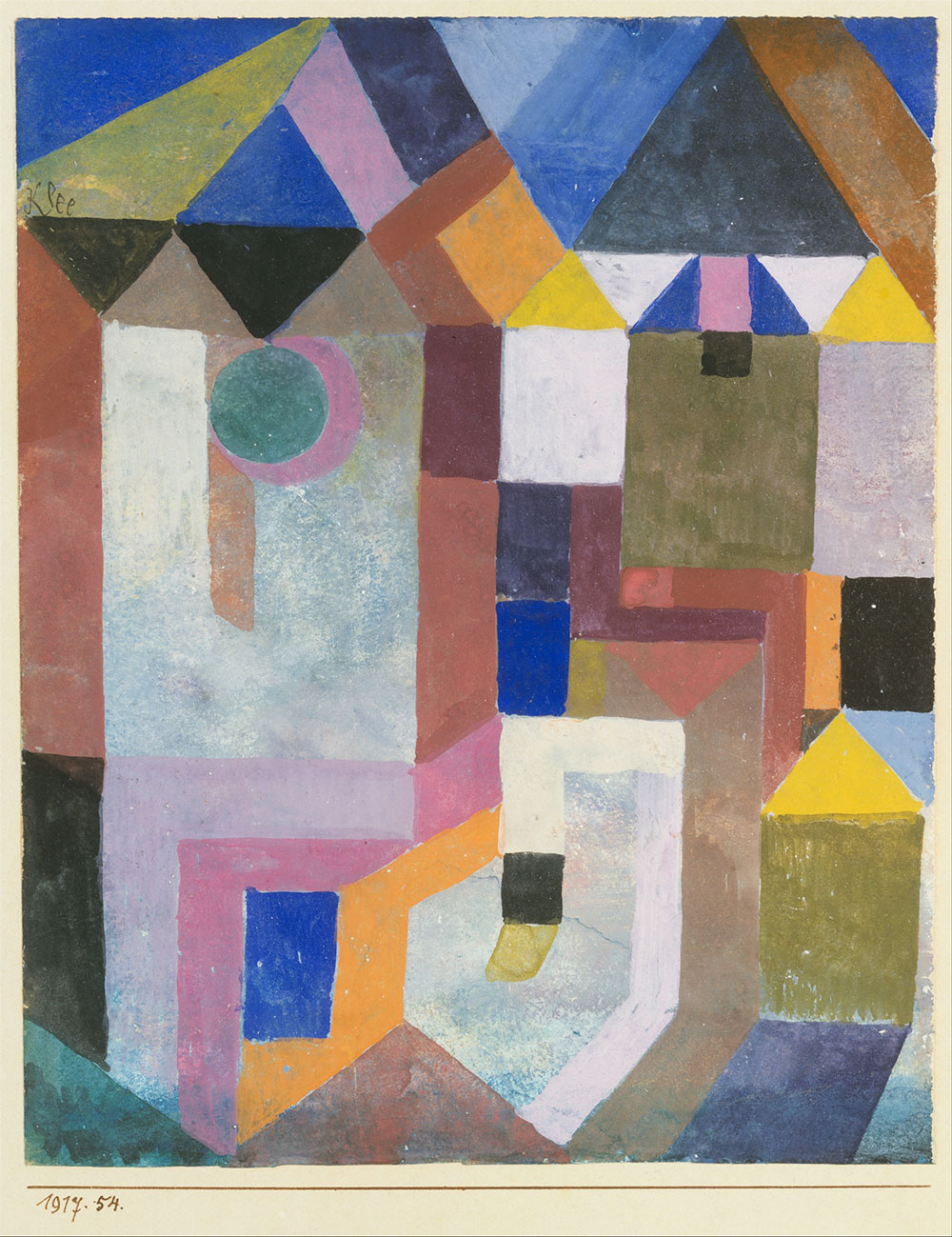 Paul Klee Colorful Architecture