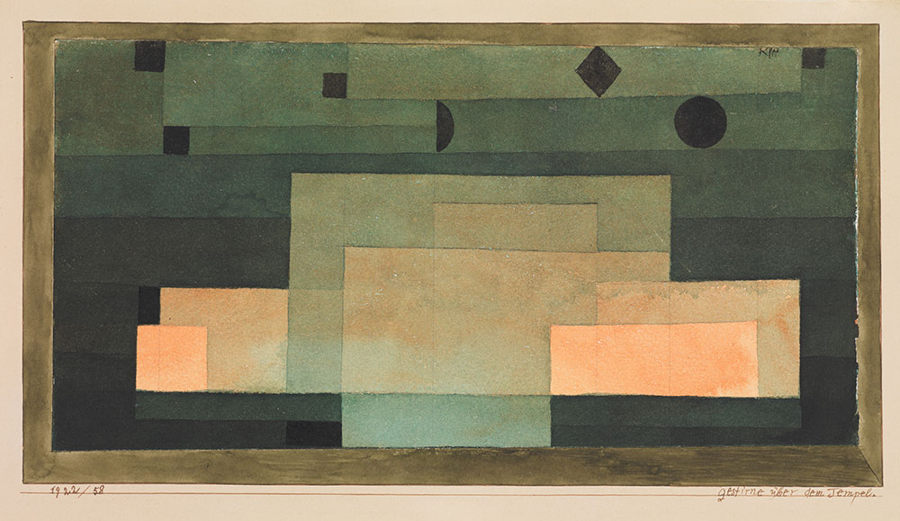 Paul Klee The Firmament Above the Temple