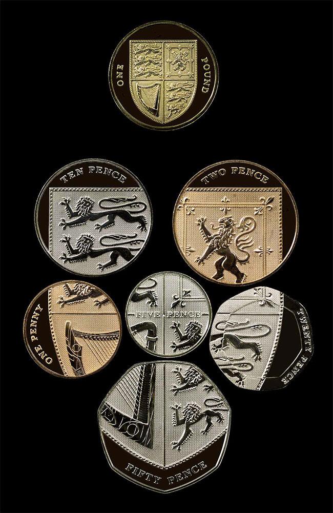 UK coin design by Matt Dent