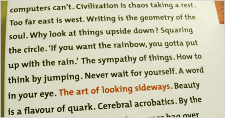The Art of Looking Sideways