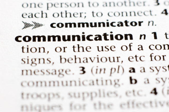 dictionary definition communication