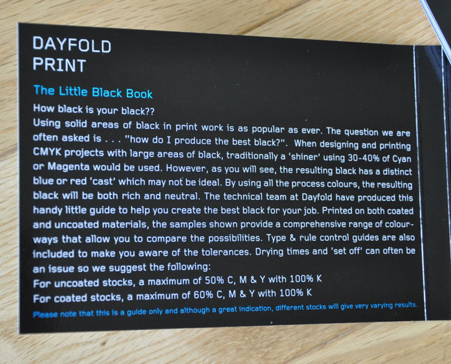 Dayfold Print Little Black Book