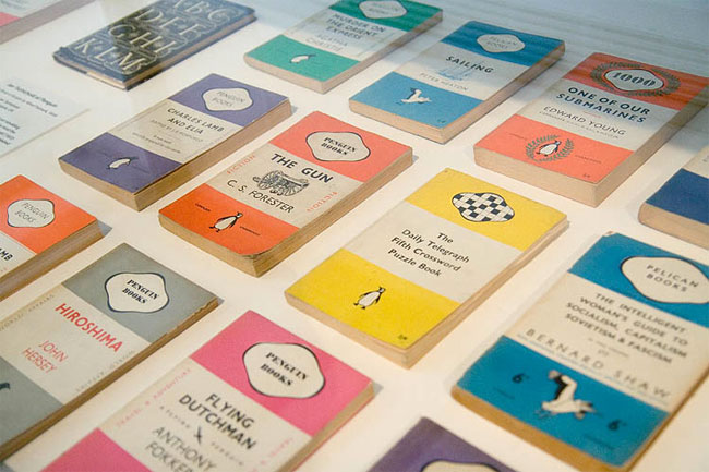 Penguin book covers stripes