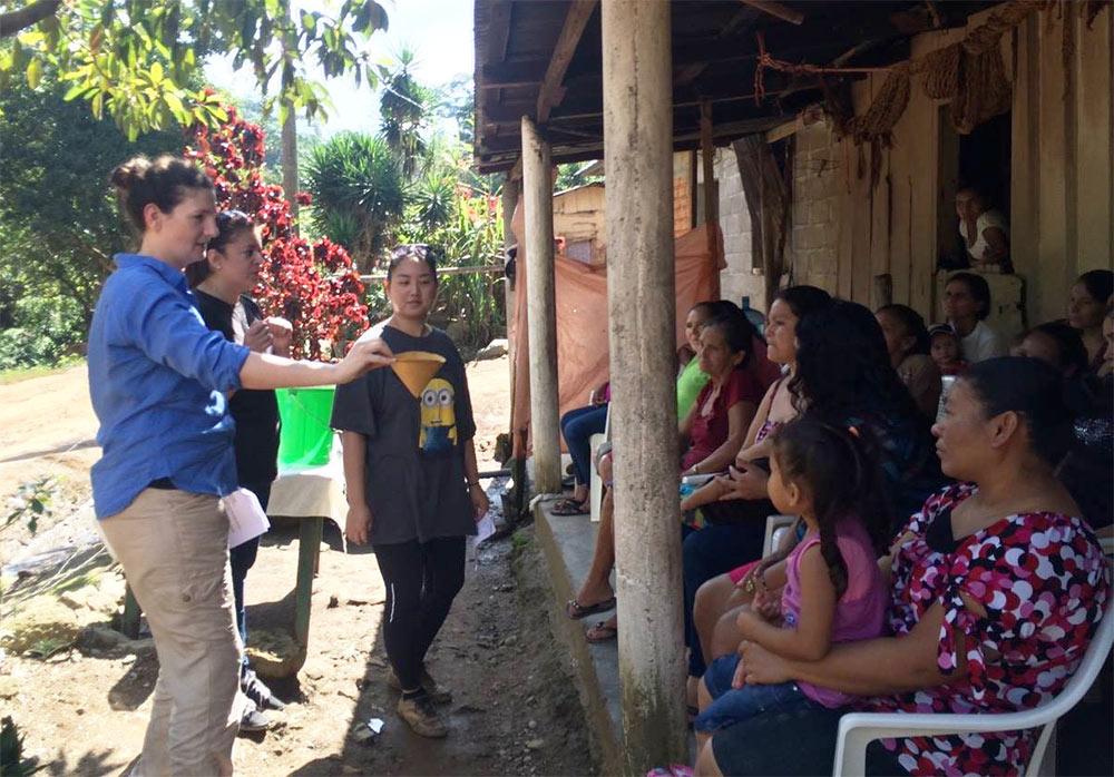 Safe Water Book testing, Honduras