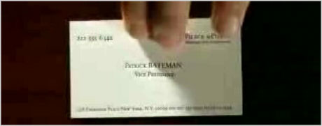 American Psycho business card design
