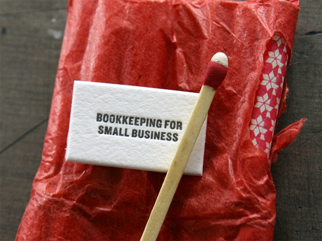 Bookkeeping for small business card