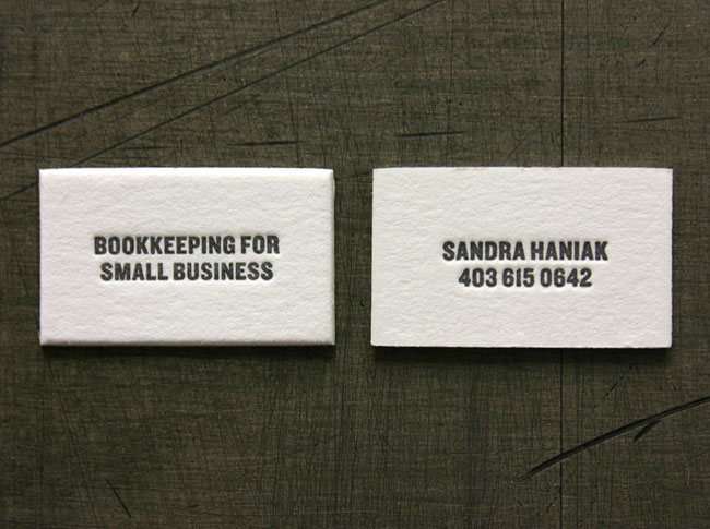 The smallest business cards ever david airey bookkeeping for small business card colourmoves