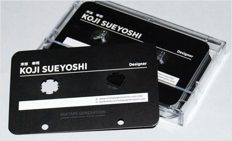 cassette tape business card design