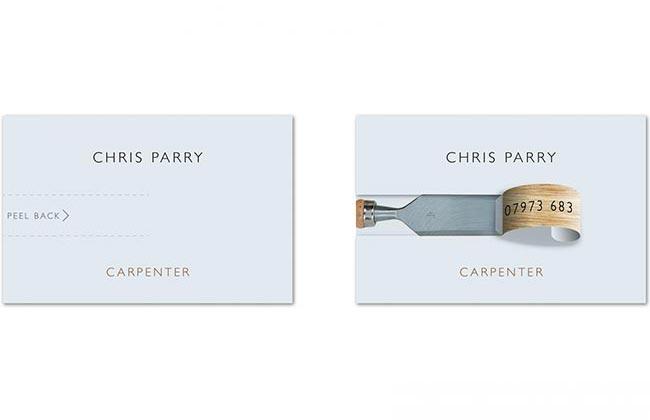 Chris Parry's business card — David Airey