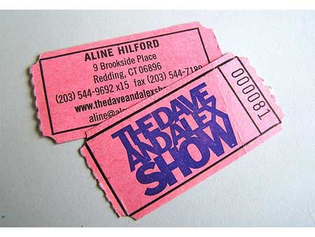 Dave and Alex Show business card