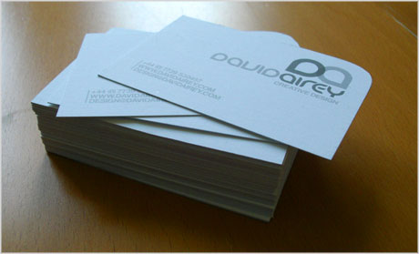 visiting card design sample. airey business card design