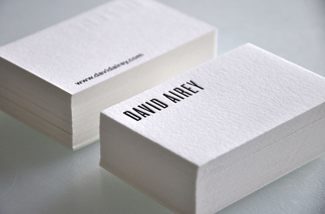 Letterpress note cards