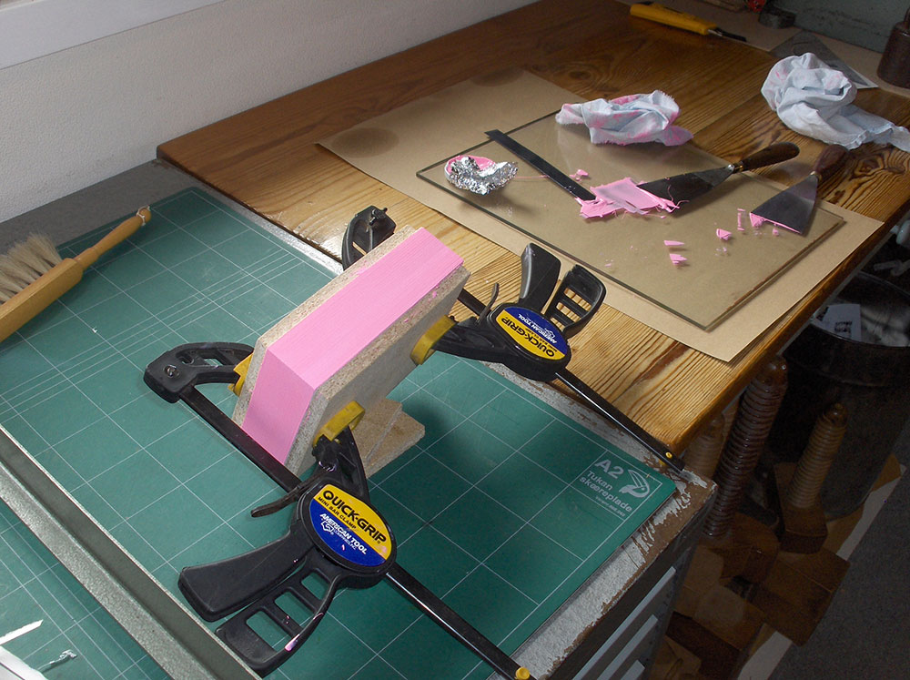 Edge painting clamps