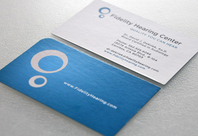 Fidelity Hearing Center card design