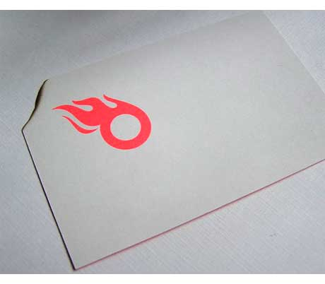 Burnt corner business card