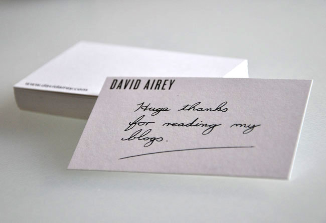 Moo card David Airey