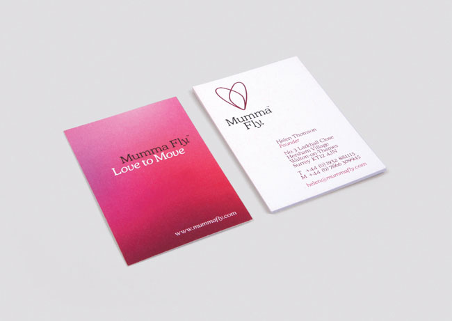graphic design company name ideas mumma fly business card