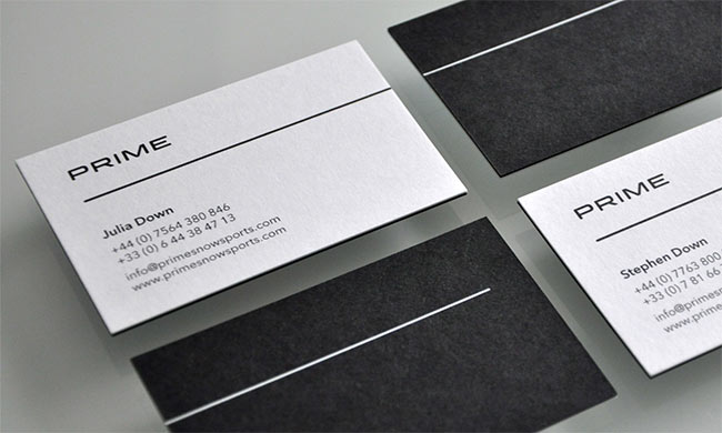 Prime Snowsports business card