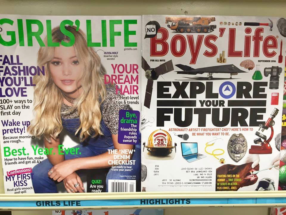 Girls's Life, Boys' Life covers