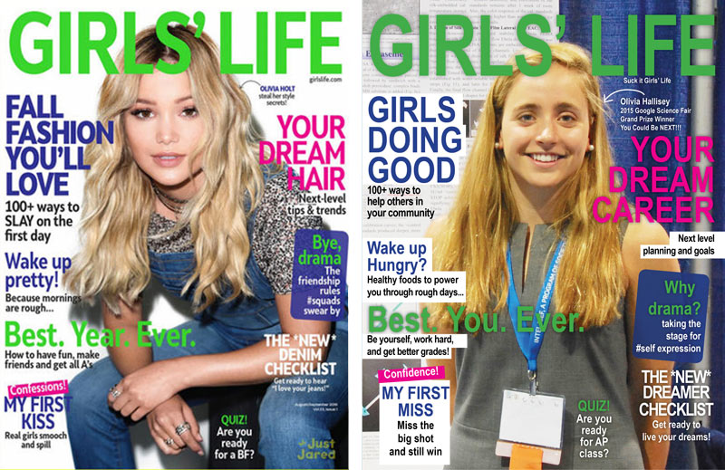 Girls's Life cover, by Katherine Young