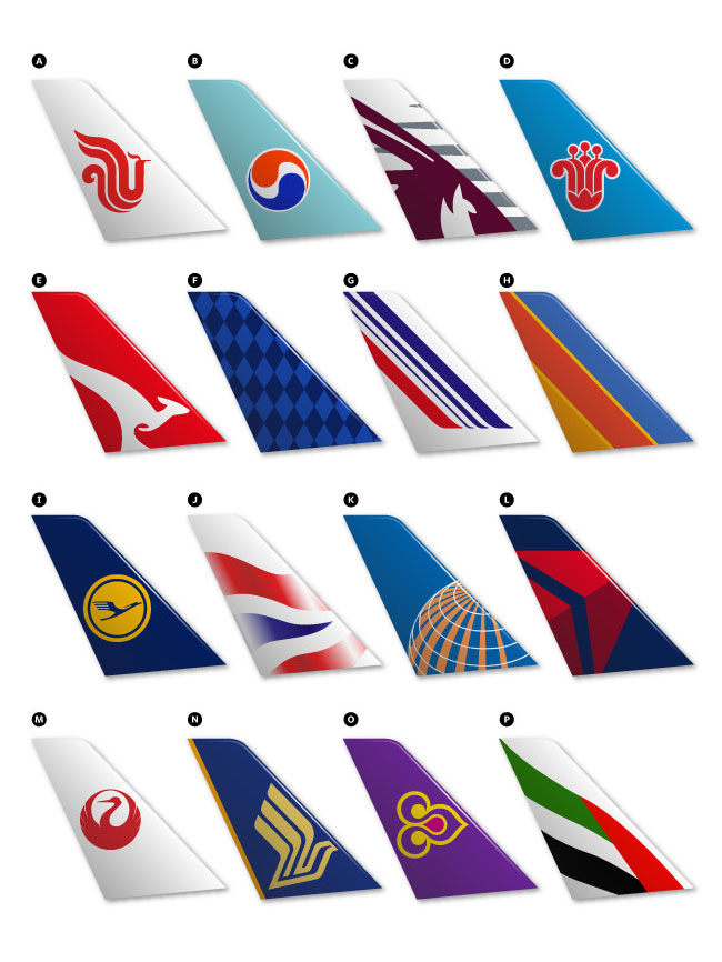 airline tail logos