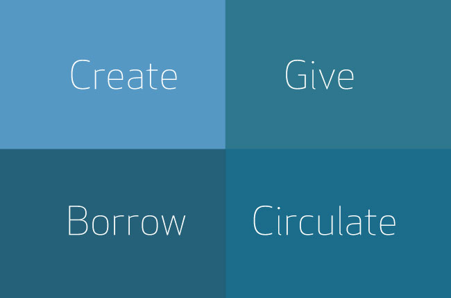 Create give borrow circulate