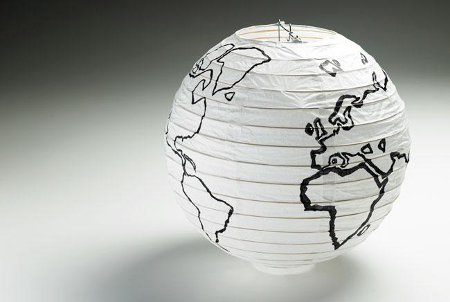 Japanese lamp globe