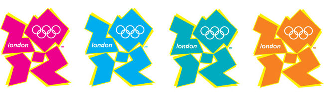 London 2012 logo colours