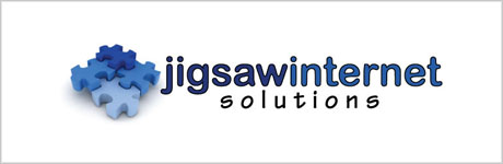 old Jigsaw Internet logo design