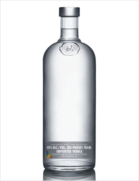 Absolut Naked packaging design
