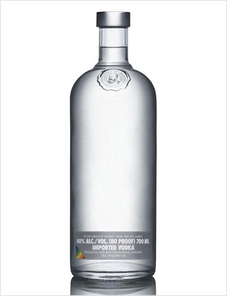 Absolut Naked packaging design