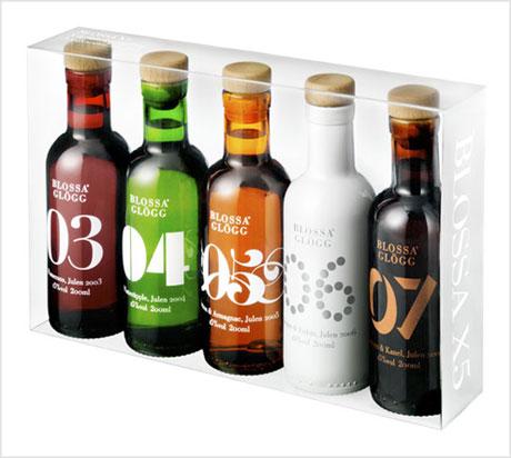 Blossa Glögg bottle label design